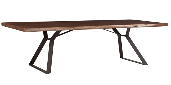 World Interiors Nottingham Brown 106 Inch Dining Table WIF-ZWNTHMDT106