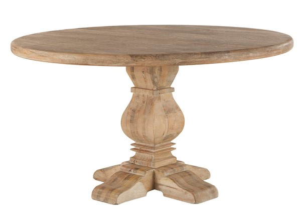 World Interiors Pengrove Light Brown 48 Inch Round Dining Table WIF-ZWPG4829