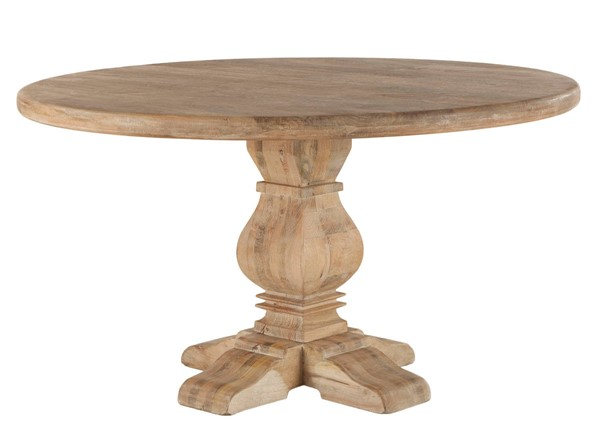World Interiors Pengrove Light Brown 54 Inch Round Dining Table WIF-ZWPG5429