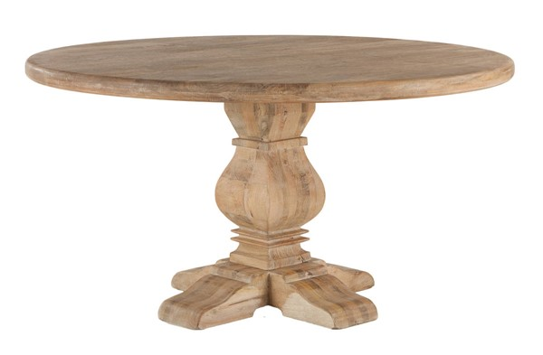 World Interiors Pengrove Light Brown 60 Inch Round Dining Table WIF-ZWPG6029