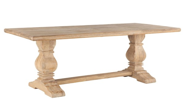World Interiors Pengrove Light Brown 84 Inch Rectangle Dining Table WIF-ZWPG8438