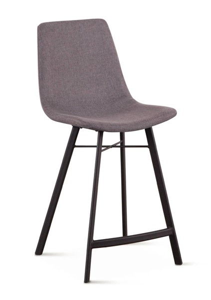 2 World Interiors Posey Dark Gray Counter Chairs WIF-ZWPSYCCDGL-2X