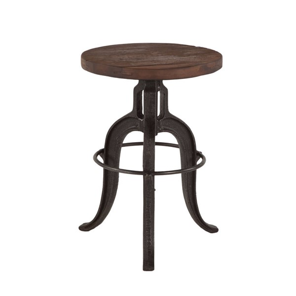 World Interiors Paxton Brown Adjustable Bar Stool WIF-ZWPX131