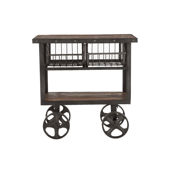 World Interiors Paxton Gray 36 Inch Utility Cart WIF-ZWPX36180