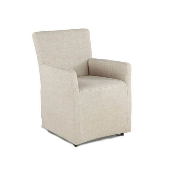 World Interiors Lily Off White Wheeled Armchair WIF-ZWPY08