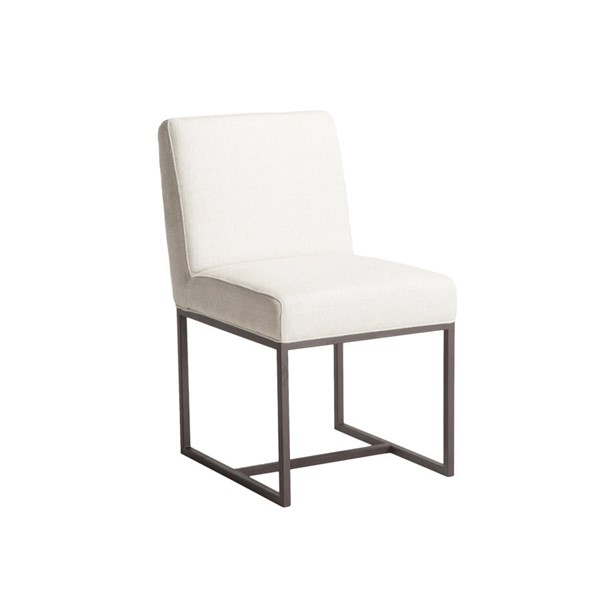 2 World Interiors Rebel Off White Linen Dining Chairs WIF-ZWRBLDC-4AB-2X
