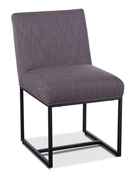 2 World Interiors Rebel Gray Linen Dining Chairs WIF-ZWRBLDC23-2X