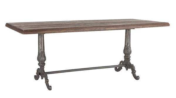 World Interiors Regina Brown Rectangle Dining Table WIF-ZWRG7638