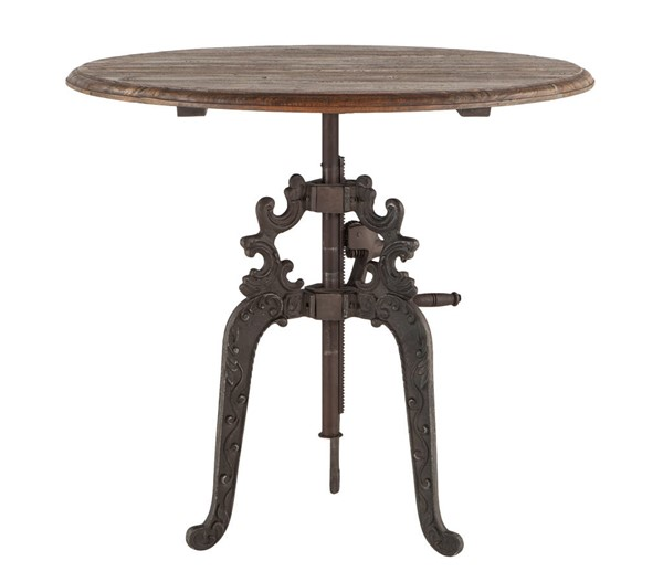 World Interiors Regina Brown Adjustable Crank Dining Table WIF-ZWRGG4039