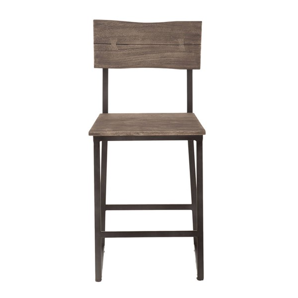2 World Interiors New Orleans Weathered Gray Counter Height Chairs WIF-ZWSBCC18WGGF-2X