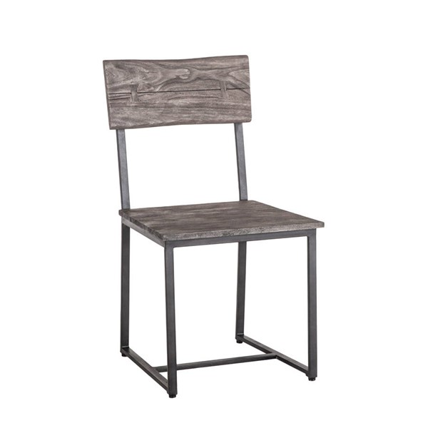 2 World Interiors New Orleans Weathered Gray Dining Chairs WIF-ZWSBDC18WGGF-2X
