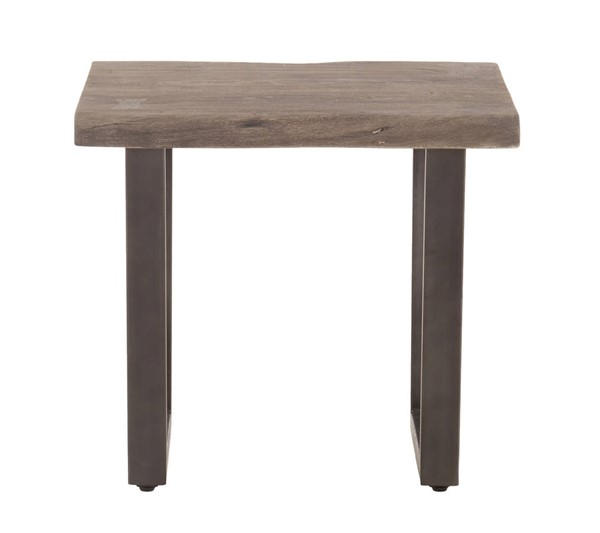 World Interiors New Orleans Weathered Gray Side Table WIF-ZWSBST28WGGF