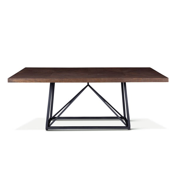 World Interiors Seville Brown 78 Inch Dining Table WIF-ZWSGDT78NM