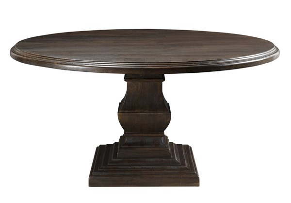 World Interiors Toulon Dark Brown 60 Inch Round Dining Table WIF-ZWTLNRD60