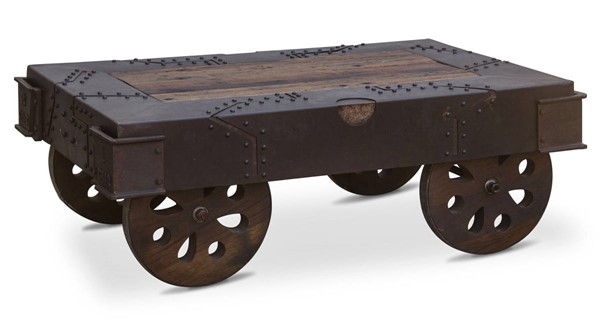 World Interiors Sterling Wheeled Coffee Table WIF-ZWVICT48F