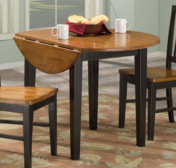 Intercon Arlington Black Java 42 Drop Leaf Dining Table INT-AR-TA-4242D-BLJ-C