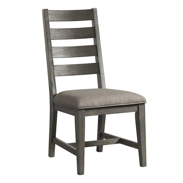 2 Intercon Foundry Brushed Pewter Ladder Back Side Chairs INT-FR-CH-789C-PEW-RTA