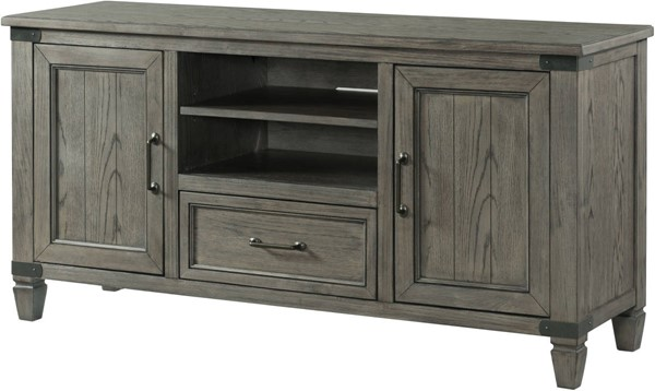 Intercon Foundry Brushed Pewter 60 Media Console INT-FR-HT-6030-PEW-C