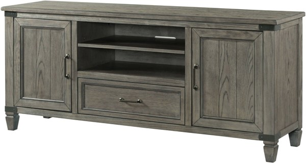 Intercon Foundry Brushed Pewter 70 Media Console INT-FR-HT-7030-PEW-C