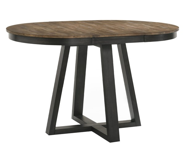 Intercon Harper Brushed Brown Pecan Round Counter Table INT-HP-TA-4260G-BBP-C