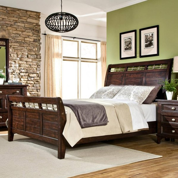 Intercon Hayden Espresso Queen Sleigh Bed INT-HY-BR-5950Q-RSE-C