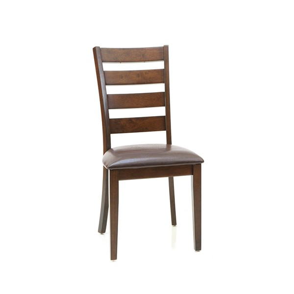 2 Intercon Kona Raisin Ladder Back Side Chairs INT-KA-CH-669L-RAI-RTA