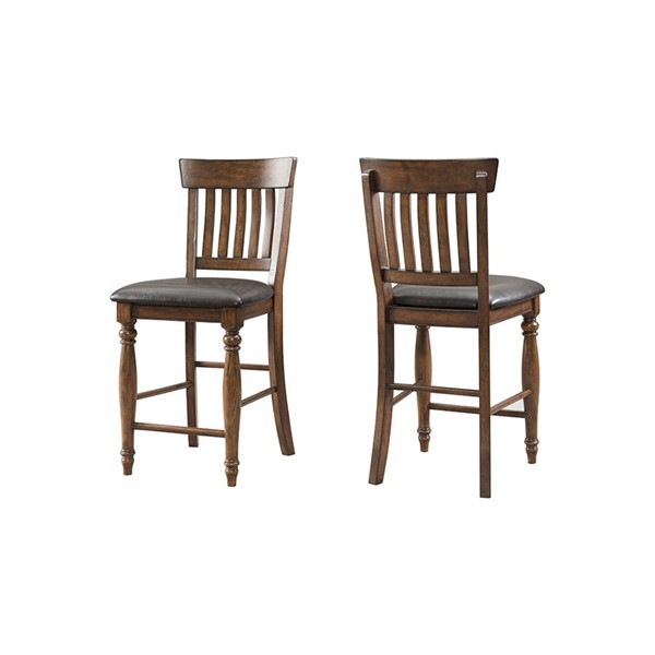 2 Intercon Kingston Raisin Curved Slat Back Counter Stools INT-KG-BS-N860C-RAI-K24
