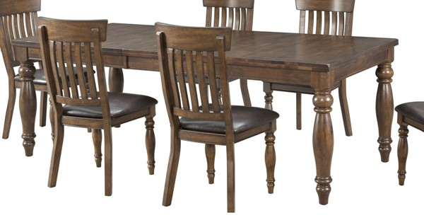 Intercon Kingston Raisin 18 Inch Butterfly Leaf Dining Table INT-KG-TA-4290B-RAI-C