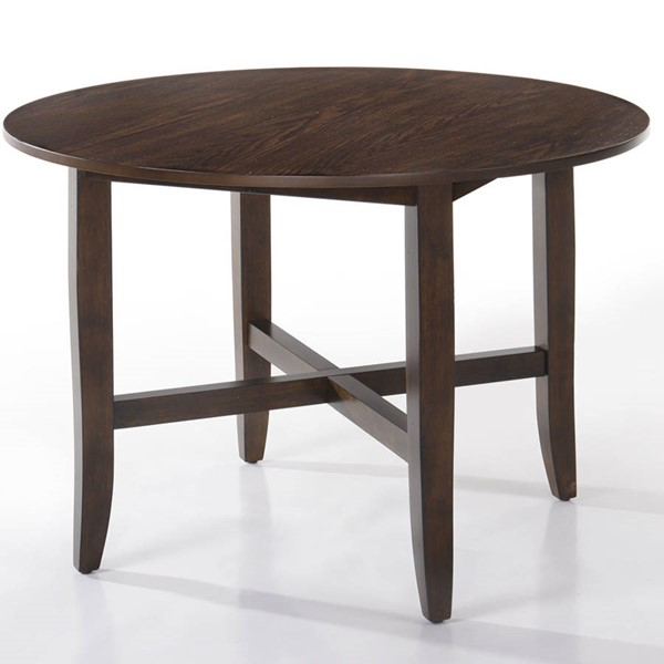 Intercon Lindsay Walnut 42 Inch Round Dining Table INT-LN-TA-4242-WAL-C