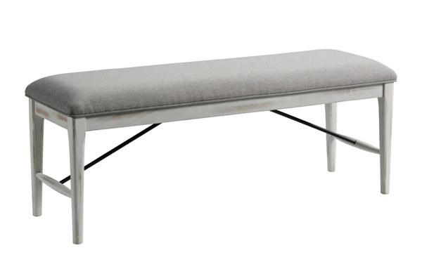 Intercon Modern Rustic Weathered White Backless Bench INT-MR-CH-5019C-WWH-RTA