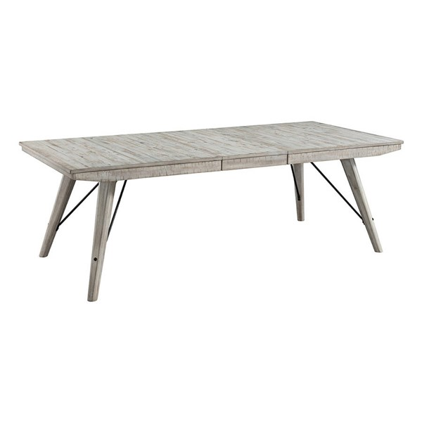 Intercon Modern Rustic Weathered White Trestle Dining Table INT-MR-TA-4290-WWH-C
