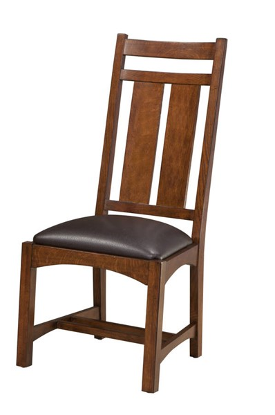 2 Intercon Oak Park Wide Slats Back Side Chairs INT-OP-CH-950C-MIS-RTA
