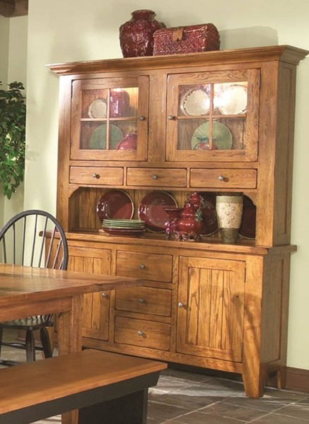 Intercon Rustic Traditions China Cabinets INT-RT-CA-6035-6248-RUS-C