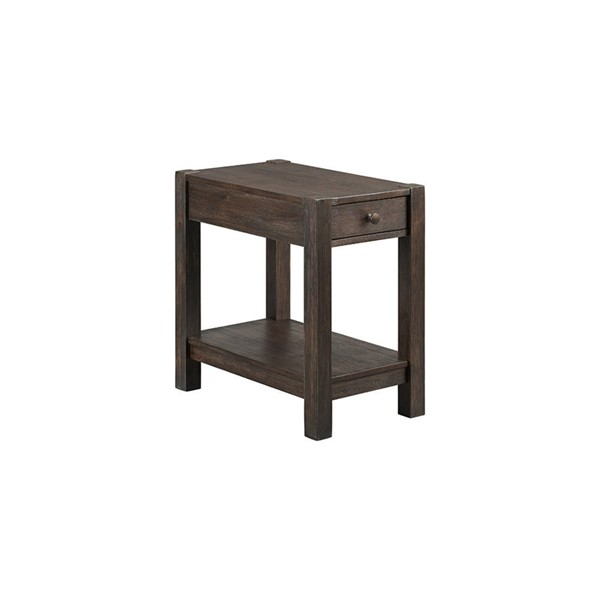 Intercon Salem Brushed Cocoa Chairside Table INT-SL-TA-1424-BCO-C