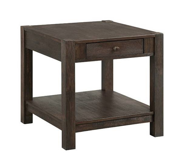 Intercon Salem Brushed Cocoa End Table INT-SL-TA-2426-BCO-C