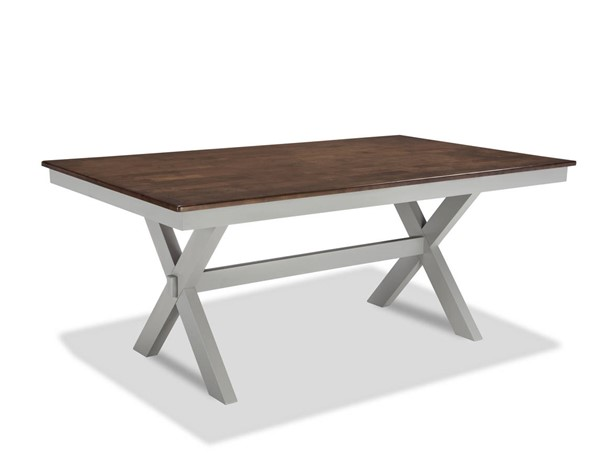Intercon Small Space Cherry Gray Trestle Dining Table INT-SS-TA-4272-CYG-C