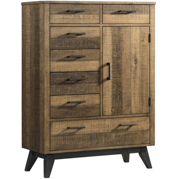 Intercon Urban Rustic Brushed Wheat Gentlemans Chest INT-UR-BR-7406GC-BWH-C