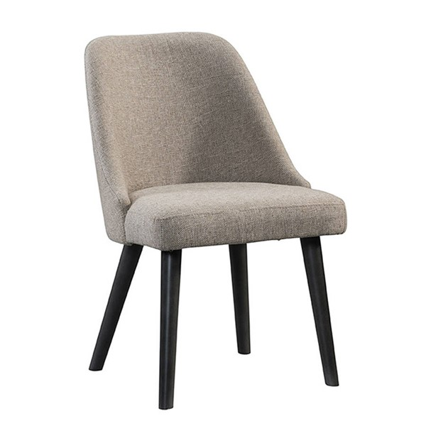 2 Intercon Urban Rustic Brushed Wheat Upholstered Dining Chairs INT-UR-CH-970C-BWH-RTA