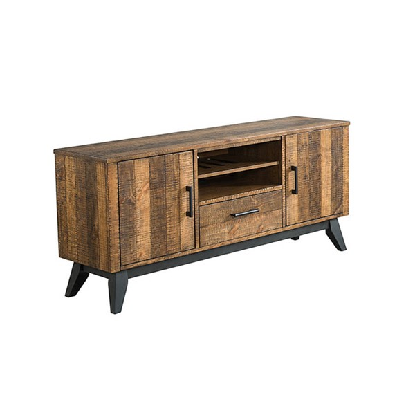 Intercon Urban Rustic Brushed Wheat 60 Inch TV Console INT-UR-HT-6029-BWH-C