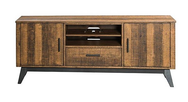 Intercon Urban Rustic Brushed Wheat 70 Inch TV Console INT-UR-HT-7029-BWH-C