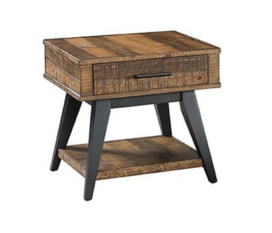 Intercon Urban Rustic Brushed Wheat End Table INT-UR-TA-2426-BWH-C