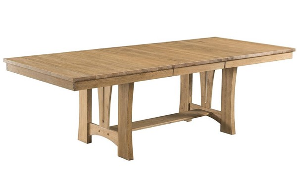 Intercon West End Bungalow Stone Oak Trestle Dining Table INT-WE-TA-42100-SWO-C
