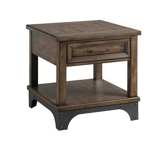 Intercon Whiskey River Gray End Table INT-WY-TA-2324-GPG-C