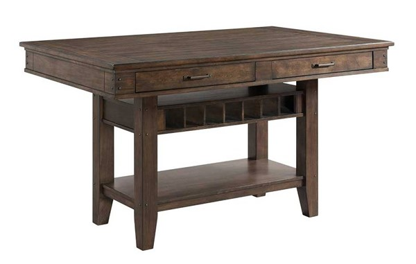 Intercon Whiskey River Gray Counter Height Island INT-WY-TA-4266G-GPG-C
