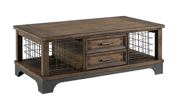 Intercon Whiskey River Gray Coffee Table INT-WY-TA-5028-GPG-C