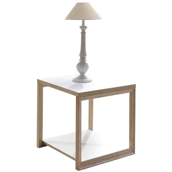 Intercon Lifestyles Studio Living Laminate End Table INT-LI-TA-2222-WHO-RTA