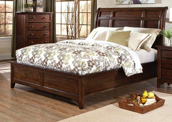 Intercon Jackson Raisin Sleigh Beds INT-JK-BR-5050-RAI-BED-VAR