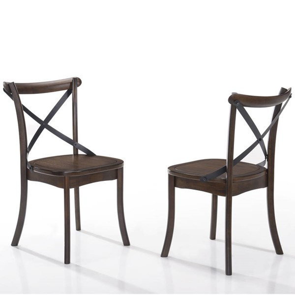 2 Intercon Lindsay Walnut X Back Side Chairs INT-LN-CH-725-WAL-RTA