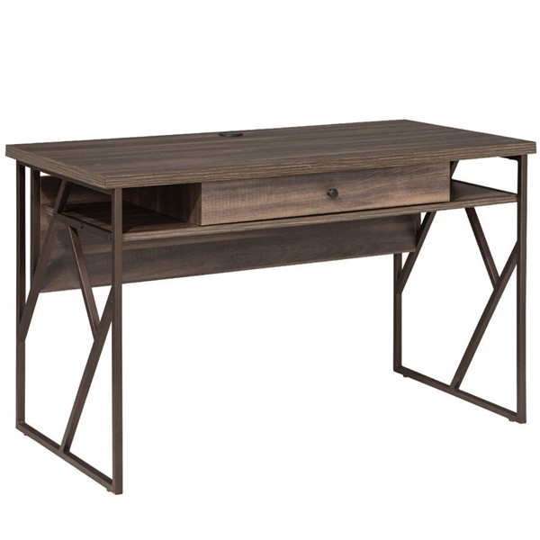 Intercon Lifestyles Studio Living Weathered Gray Writing Desk INT-LI-HO-4724-DWG-C