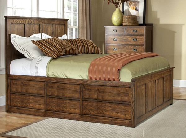 Intercon Oak Park 2pc Bedroom Set with Cal King Universal Bed INT-OP-BR-5850CK-MIS-C-BR-S1